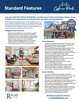 Cushman Pointe New Home Standard Features
